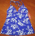 NEW ARIZONA WOMENS BLUE VIOLET FLORAL TANKINI SWIMSUIT TOP OR BOTTOM SZ S M L XL