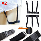 1Pair Men's Shirt Stays Holders Elastic Garter Belt Suspender Locking Clamps Hot