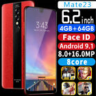 Au Bobarry Mate23 6.2 Inch 4g+64g Ram Android Full Screen Dual Sim Mobile Phone