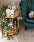 Rose Gold Round Drinks Trolley with 2 or 3 Tier 30's Art Deco Vintage Home Bar C