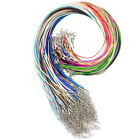 50pcs Leather Braid Rope Hemp Cord Lobster Clasp Chain Necklace Jewelry 43cm Uk