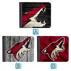 Arizona Coyotes Leather Wallet Bifold Clutch Purse Card Handbag Men $11.99 USD on eBay