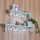 Fashion Modern Art White Wooden Wall Shelf Display Hanging Rack Storage Nz