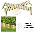 Quality Wooden Log Border Edge Landscaping Garden Patio Lawn Picket Fence-  1 M