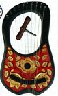 New Lyre harp 10 Strings Rosewood Hand Engraved With Free String