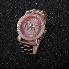 new Fashion women men diamond crystal stainless steel wrist quartz watches g1 image