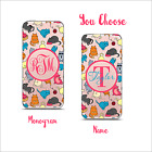 Clear Transparent Cell Phone case Monogram iPhone X / 6 / 7 / 8 & Plus