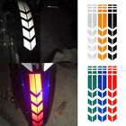 Car Motorcycle Arrow Reflective Decals Rim Stripe Wheel On Fender Tape Stickers#