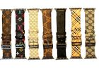 LV Apple Watch Burberry Band/Strap  Series 1/2/3/4  Custom made USA  image