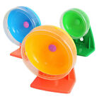 Pet Hamster Mouse Guinea Pig Exercise Silent Running Wheel Activity Plastic Toys