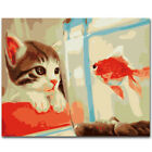Canvas DIY Digital Oil Painting Kit Paint by Numbers No Frame Home Deco QZP