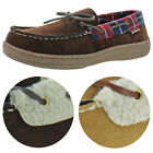 Ben Sherman Men's Milton Faux Suede Shearling House Shoes Moccasin Slippers