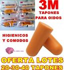 20 30 40 TAPONES OIDOS 3M LOTE 10 15 o 20 PARES...