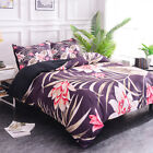 Floral Duvet Cover Lightweight and Soft Twin King Queen Size Bedding Set Home