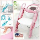 Kids Trainer Toilet Ladder Potty Soft Padded Seat Chair Step Up Training Stool image