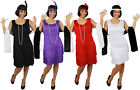 DELUXE FRINGE FLAPPER COSTUME PLUS ACCESSORIES 1920S CHARLESTON FANCY DRESS