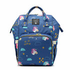 Large Capacity Mummy Unicorn Travel Backpack Maternity Nappy Baby Diaper Bag NEW