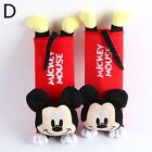 2pcs Batman Seat Belt Cover Marvel Heroes Mickey Mouse Cartoon Auto Accessories