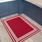 Red Cream Non Slip Stain Resistant Kitchen Utility Room Trailer Washable Mats