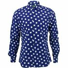 Mens Shirt Loud Originals SLIM FIT Abstract Blue Retro Psychedelic Fancy