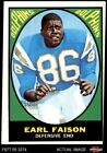 1967 Topps #75 Earl Faison Dolphins Indiana 3 - VG $12.0 USD on eBay