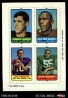 1969 Topps 4-in-1 Football Stamps Charlie Durkee / Clifton McNeil / Fran T EX/MT $9.25 USD on eBay