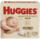 Kyпить Huggies Nourish & Care Baby Wipes, Sensitive Skincare, Scented, 6 Flip-Top  на еВаy.соm