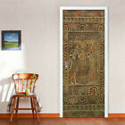 Egyptian Pharaoh Door Stickers Home Decor PVC Waterproof Self-adhesive Sticker