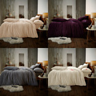 WARM&BEAUTIFUL LUXURY TEDDY EMBROIDERED REVERSIBLE DUVET SET EXTRA SOFT  FLEECE