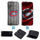 Montreal Canadiens Leather Long Wallet Clutch Purse Zip Phone Holder $16.99 USD on eBay