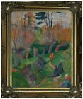 Gauguin Brittany Landscape with cows 1889 Wood Framed Canvas Print Repro 11x14