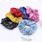 Women Hot Cashew Flower Bandana Elastic Hair Scrunchies Ponytail Holder Hair Tie