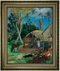 Gauguin The Black Pigs 1891 Framed Canvas Print Repro 16x20