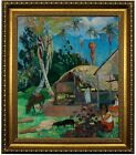 Gauguin The Black Pigs 1891 Framed Canvas Print Repro 20x24