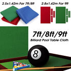 Professional Billiard Pool Table Cloth Mat Cover Felt Accessories For 7/8/9FT $28.99 USD on eBay