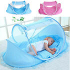 Foldable Baby Mosquito Net Canopy Bed Mosquito Net Travel Cot Tent Crib Pillow
