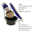 Perfeclan Men Facial Grooming Kit Shaving Brush Stand Holder Straight Razor Bowl