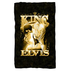 ELVIS PRESLEY THE KING FLEECE THROW BLANKET 36X58