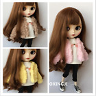 1-6 Fashion doll clothes blyth Fur coat suit for 30cm doll blyth accessories