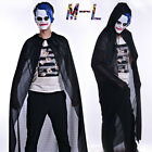 Adult Turtle Neck Bronzing Cloak Coat Wicca Robe Halloween Party Ghost Cothes CA