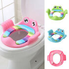 Child Cartoon Potty Toilet Trainer Seat Stool Ladder Adjustable Training Chair image
