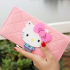 Women female bow famous brand designer hello kitty leather long  wallets purses image