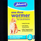 JOHNSONS ONE DOSE CAT EASY WORMER ROUNDWORM & TAPEWORM WORMING TABLETS FOR RSPCA