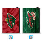 Minnesota Wild Leather Credit Card Case Holder RFID Blocking Wallet $11.99 USD on eBay