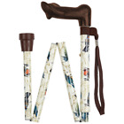 Ergonomic Folding Walking Stick with Strap & Clip (LH.or RH) from Z-Tec #2152