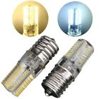 Warm/Pure White E17 5W 3014 64 SMD Silicone Crystal Gel Corn Slim LED Lamp 110V