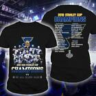 2019 Stanley Cup St.Louis Blues Champions T-Shirt WE ALL BLEED BLUE Final Tee $24.99 USD on eBay