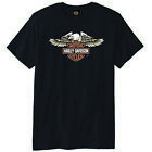 Harley Davidson Bar and Shield Eagle Motorcycle Chopper Bikers Black Men T-Shirt $29.20 AUD on eBay