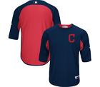 Cleveland Indians Majestic Authentic Collection On Field Batting Practice Jersey