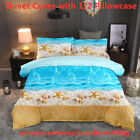 3D Ocean Beach Duvet Cover Quilt Cover Set Starfish Bedding Set Pillowcase